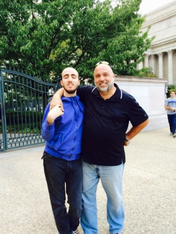 Gabriel and Juan hanging out in DC