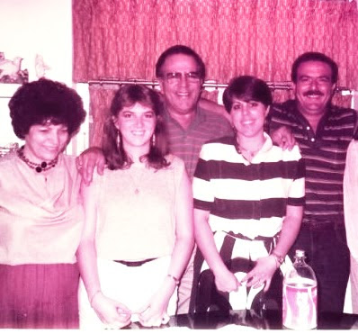 My 18th birthday, 2 months after I moved to the states, with Cristina, my uncle Aris, and my grandparents.
