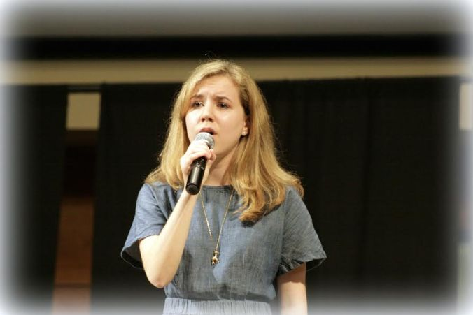 Mikala singing at last week's recital