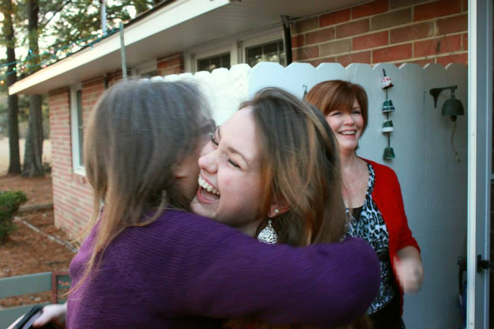 I was congratulating Geneva on her engagement to Daniel. Her mom, Adanna in the background.