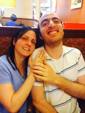 Gabriel with our dear Maggie :)